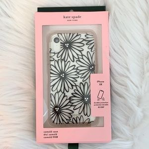 ♠kate spade iPhone XR Daisy Case - clear/black